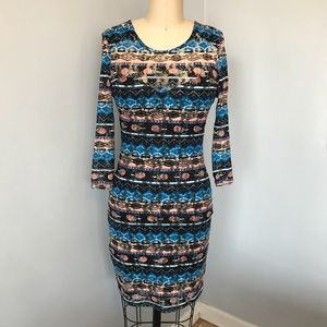 Material Girl Aztec Bodycon Dress